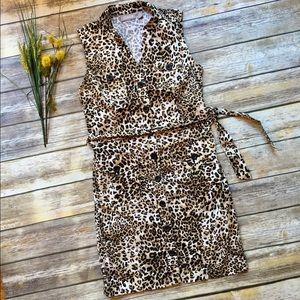CHICO'S Cheetah Print Button Down Dress - 0 (S)